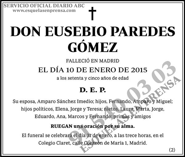 Eusebio Paredes Gómez